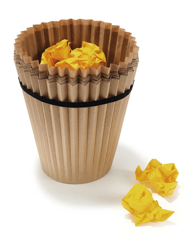 Disposable waste paper basket - Cupcake trashcan....