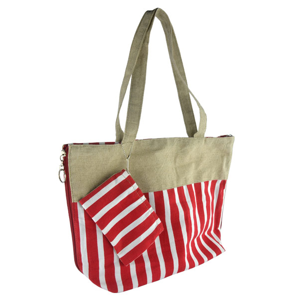 Canvas Tote Bag with Pouch