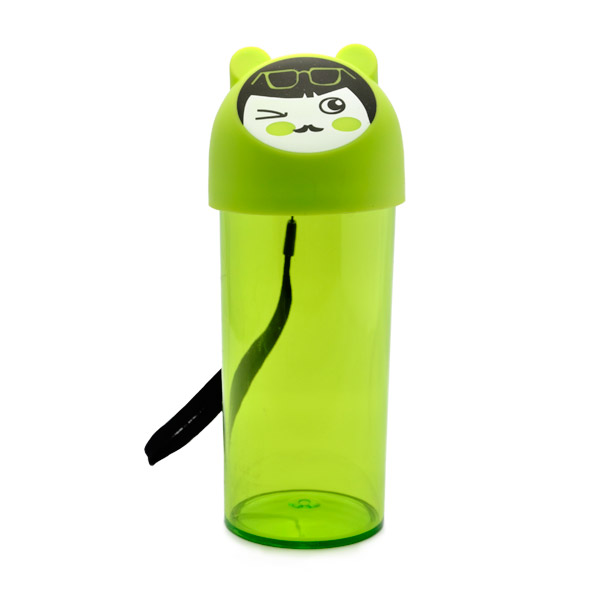 Creative Face Reusable Water Bottles - Green