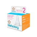 Lifefactory Stage 2 Nipples 3-6 month (pack of 2)