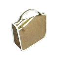 Jute Cosmetic Bag With Handle