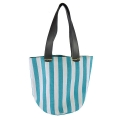 Kraft Paper Straw Tote Bag with PVC handle