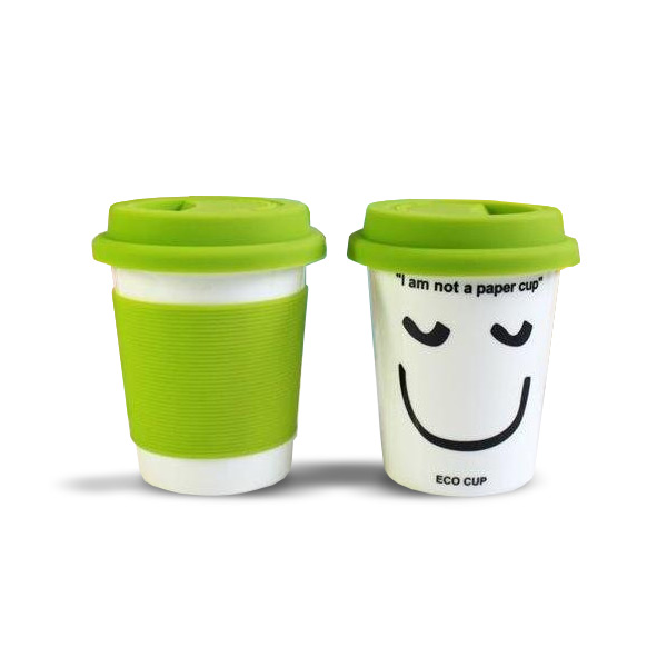 'I Am Not a Paper Cup' - Thermal Porcelain Mug (230ml) - Green