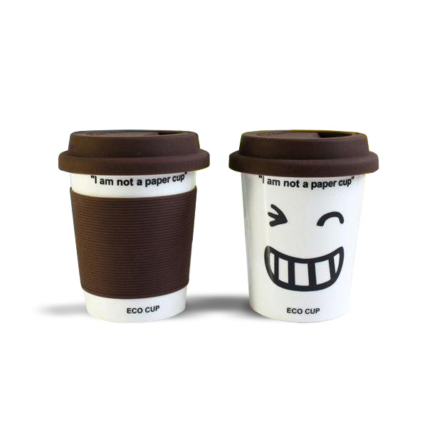 'I Am Not a Paper Cup' - Thermal Porcelain Mug (230ml) - Chocolate