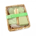 Bamboo Willow Basket Bath Gift Set (4 in 1)