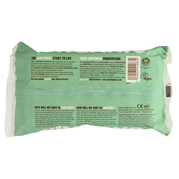 Beaming Baby Certified Organic Baby Wipes 72 Wipes